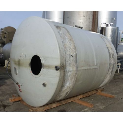 15.000 liter Storage Tanks in V2A horizontal -white painted outside-