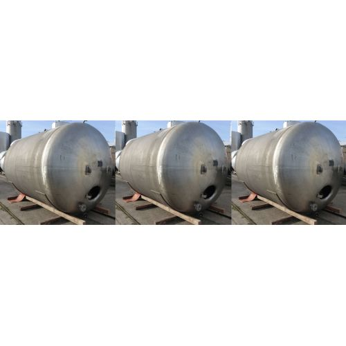 16.000 liter Storage Tanks/ Pressure Tanks horizontal in V2A