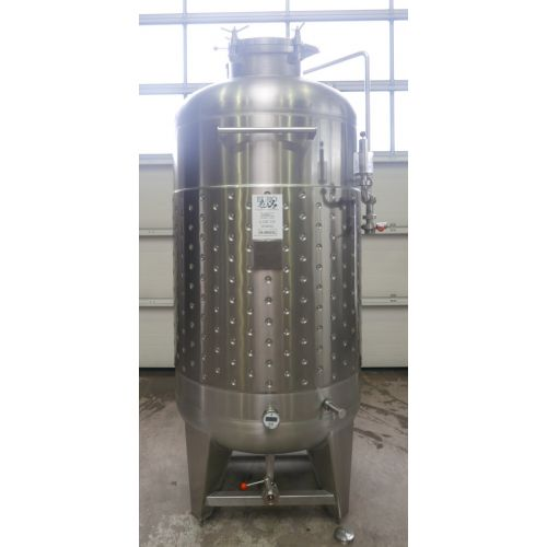 1500 liters Storage Tanks / Pressure Tanks / Beer Tanks in V2A with cooling jacket