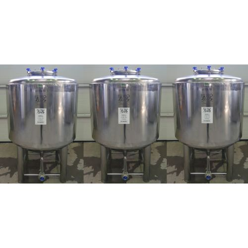 1000 Liter Eurolux Beer Tanks / Fermentation Tanks in AISI 304 with Cooling Jacket with Isolation