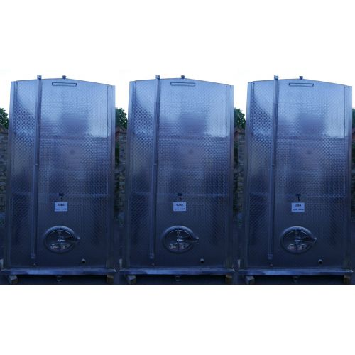 12.200 liter Storage tanks outside marbled for wine, water, fruit juice, schnapps