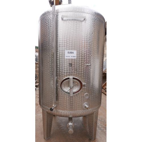 4.800 liter storage tanks outside marbled for wine, water, fruit juice, schnapps