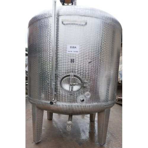 10.600 liter Storage tanks outside marbled for wine, water, fruit juice, schnapps