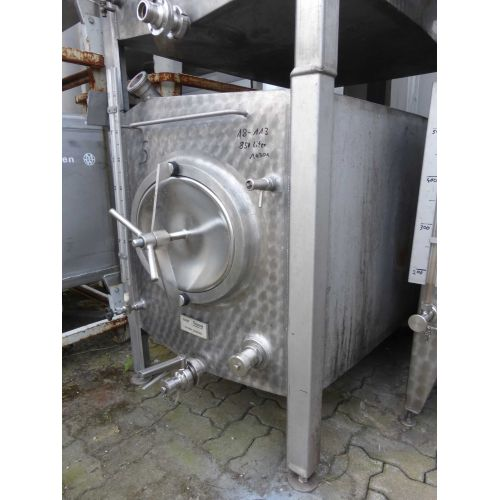 850 liter MÖSCHLE Storage tank frontage marbled for wine, water, fruit juice, schnapps