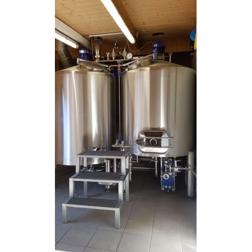 Brew House with 10 hl Volume per brewery process Garagebrewery, Microbrewery, Craftbrewery