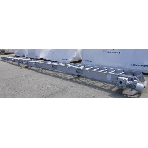Conveyor Belt, Climbing Belt, Inclined Conveyor Belt - painted Steel,