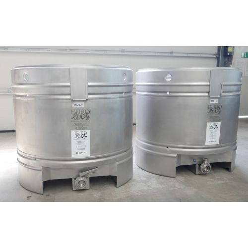 500 Liter Storage tanks for wine, beer, sparkling wine, water, fruit juices, oil etc.