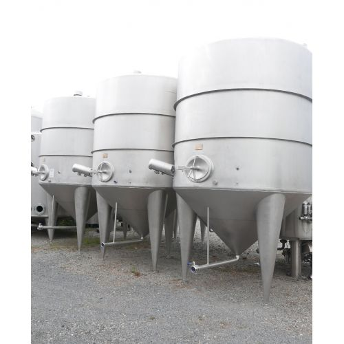 12.000 liter Mash mixer tanks in V2A with side mixer