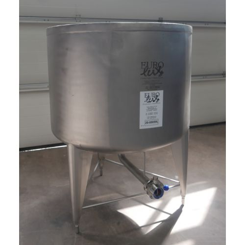 1000 liter Storage tank for wine, beer, sparkling wine, water, fruit juices, oil etc. Open at the top