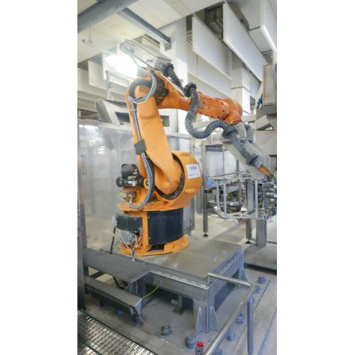 Kuka1+Kuka2 for control of the filling screw