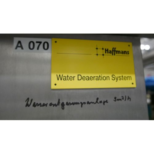 Water degassing system, Haffmanns