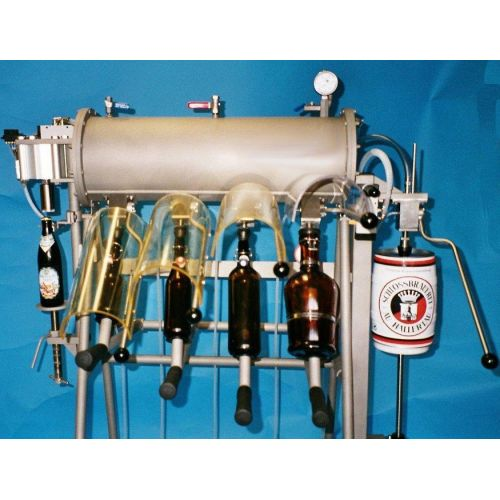 manual bottle filler for 0,33-1 or 2 litre bottles, 2 head filler H4,
