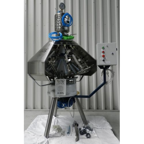 Pressure filler for glas bottles, 12 stations-Capacity 0,5l: to 650 bottles/h