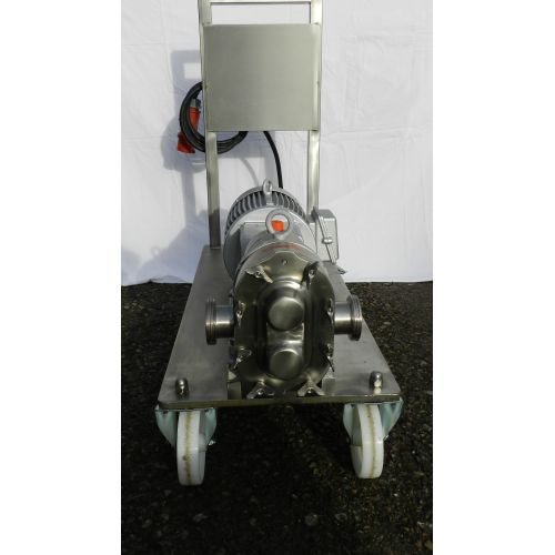 rotary piston pump INDAG HTIRM 40 VT-DS in stainless steel,
