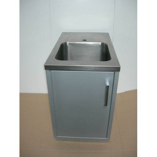 Cupboard with Wash Basin in Stainless Steel