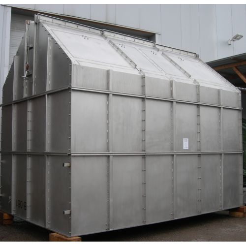 Stainless Steel Bunker V2A 306 -used,