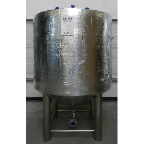 storage tank-beer tank 1000 liters with insulation in AISI 304