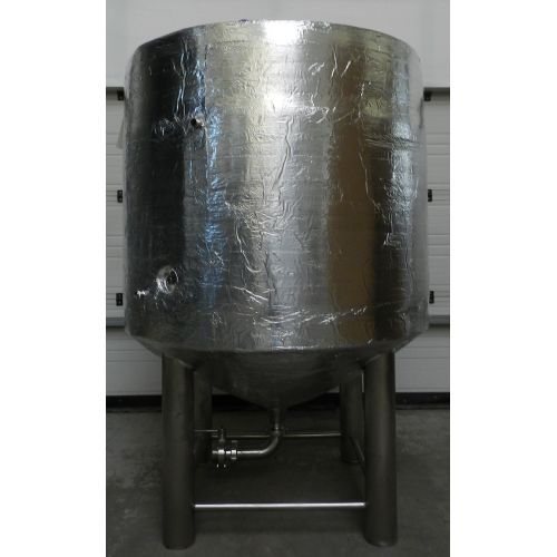 storage tank-beer tank 1000 liters with insulation in AISI 304,