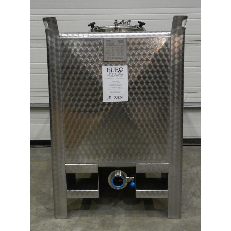 EUROLUX Storage tank cubic 750 liters in AISI 304,