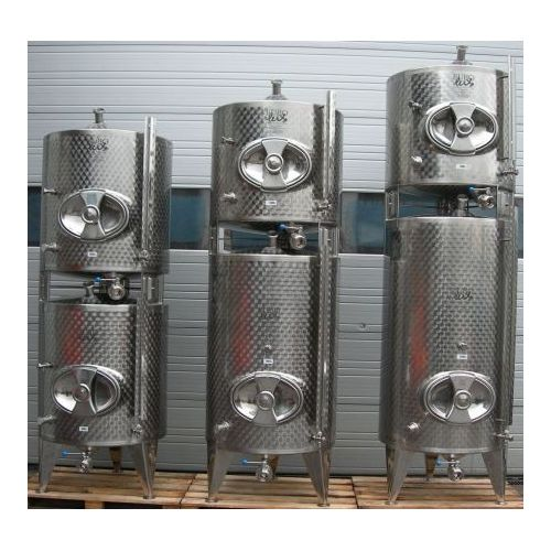 800+500 Litres Storage Vessels / Stackable Tanks in AISI 304