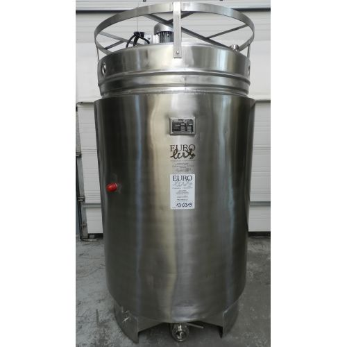 agitator tank in AISI 304, 1400 litres, insulated with cooling jacket,