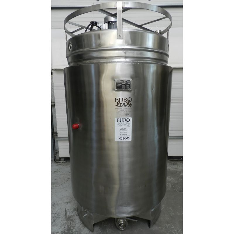 Agitator tank in aisi 304 1400 litres insulated with for Milk tank agitator gear motor
