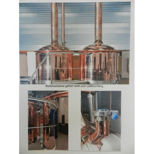 Brew House, Microbrewery in copper with 10hl Volume,