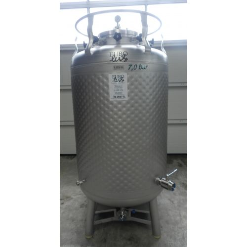 Sparkling Pressure Tank/ Storage Tank/ Pressure Tank 1125 Litres with cooling jacket in AISI 304