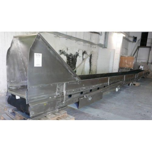 Conveyor belt in stainless steel