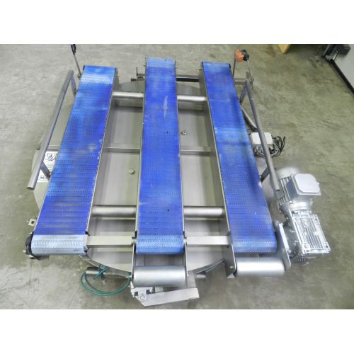 Conveyor belt, Rotator for pallets