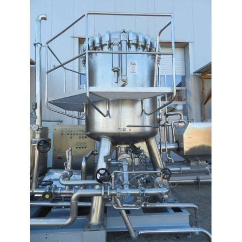 Kieselguhr filter SCHENK ZHF-S45, type M27K in stainless steel,