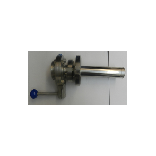 Clear outlet with butterfly valve DN25-DN40 NEU