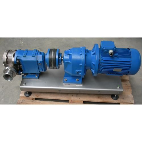 Rotary Piston Pump in Stainless Steel with Cover on frame