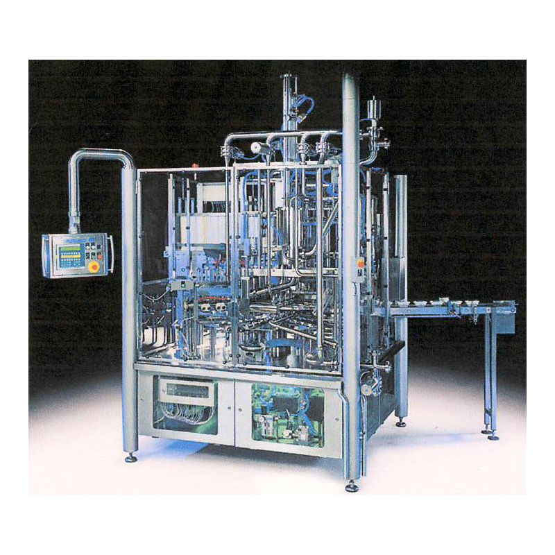 Fully automatical cup filling and closing machine