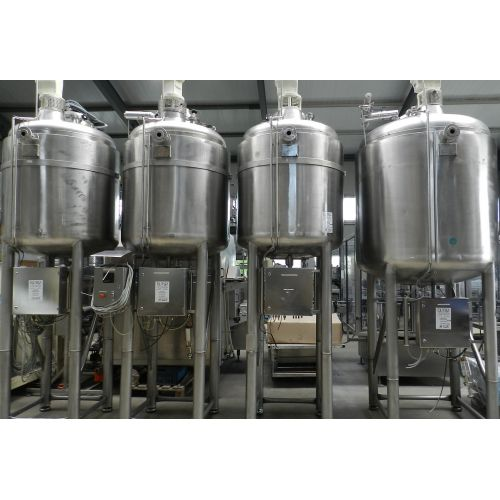 vessel for melting 1.000 litres for cosmetic and food stuff,