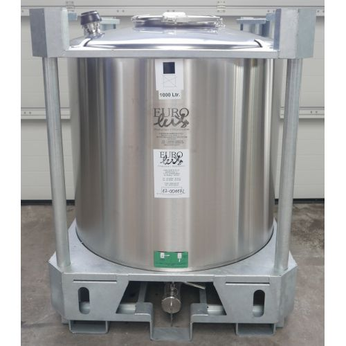 1000 Litre Container Tank in V2A for the transport of dangerous goods