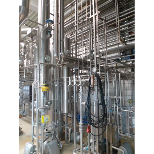 4-stage evaporator system 10 to juice feed to concentrate,