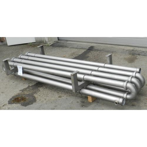 Heating section with pipes in stainless steel AISI 304,