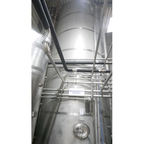 100.000 Liter Mineral water tank / flat bottom tank in V2A