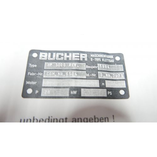 Bucher Press 5000