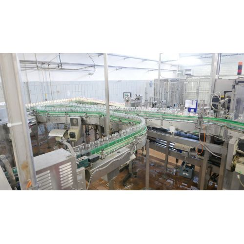 Complete glass line for milk 10.000 bottles/h on 0,7 l