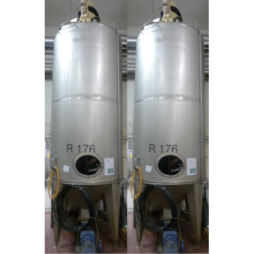 Tank with agitator and pumps R176 & R178