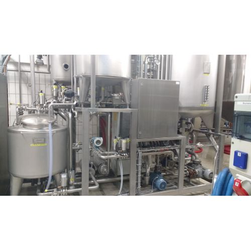 KZE system for cold aseptic filling with degassing