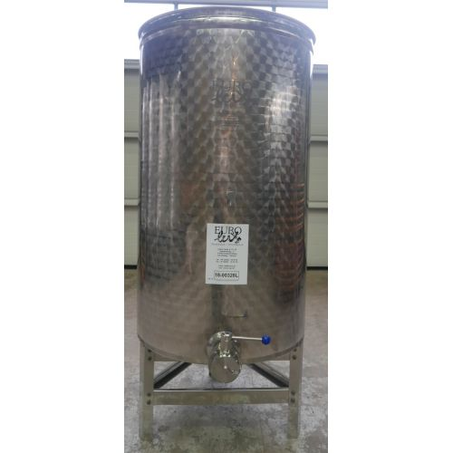 500 litres Eurolux Always-Full-Tanks in V2A – Floating Cover - round vertical on Feet – NEW!