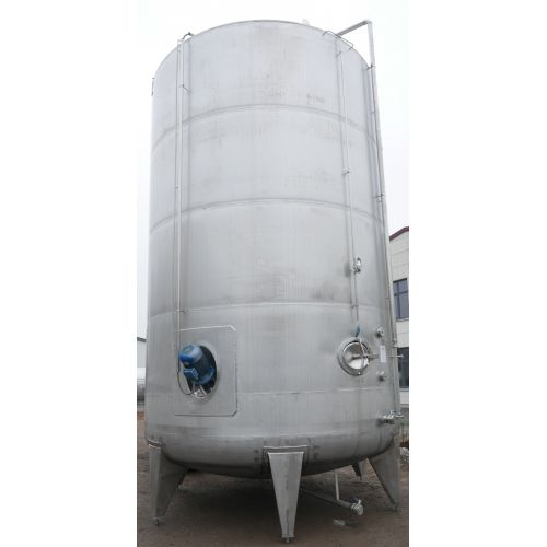 60.200 litres Mixing Tank / Storage Tank / Agitator Tank with mixer in V2A with foot ring